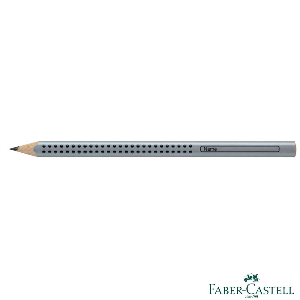 Faber-Castell 紅色系 JUMBO學齡前孩童專用大三角粗芯鉛筆(銀色)