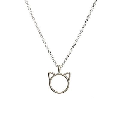 【Dogeared】美國品牌 purrfection 銀色貓咪項鍊