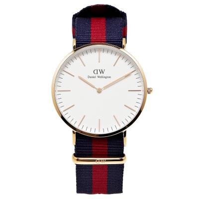 DW Daniel Wellington 經典Oxford 腕錶-白/40mm
