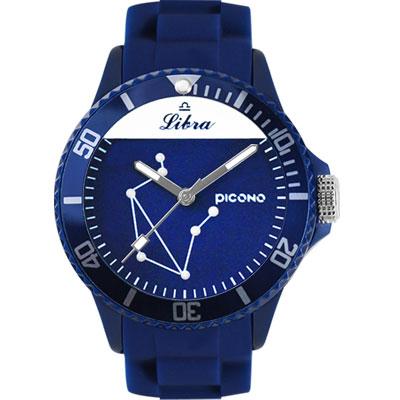 PICONO 星座系列休閒腕錶-天秤座x藍/48mm