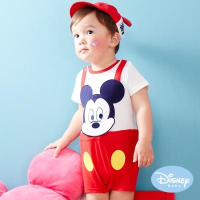 Disney Baby 米奇假二件遊戲連身裝 大紅