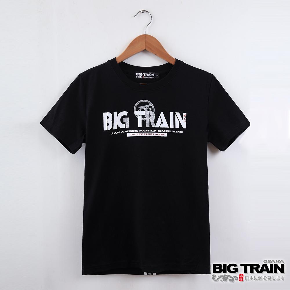 BIG TRAIN 日式嘻哈潮T女款-女-黑色