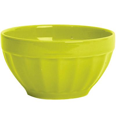 EXCELSA Fashion直紋陶餐碗(綠14cm)