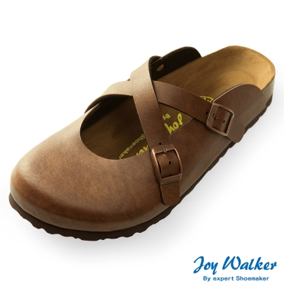 Joy Walker 經典交叉包頭拖鞋*咖啡