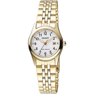 ORIENT 東方錶 優雅數字石英女錶-白x金/26mm