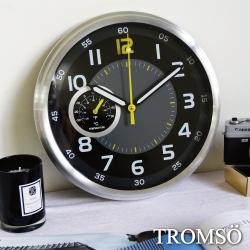 TROMSO風尚義大利金屬時鐘-超跑單圈黃