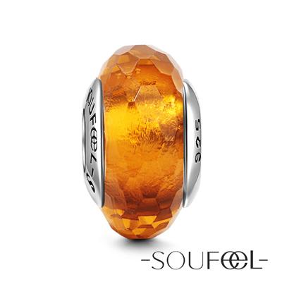 SOUFEEL索菲爾 925純銀珠飾 琥珀冰晶 琉璃珠