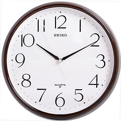 SEIKO 精工 簡潔歐風設計 掛鐘 時鐘(QXA695Z)-28cm