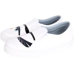 Chiara Ferragni Flirting 眨眼長睫毛造型厚底鞋(白色)