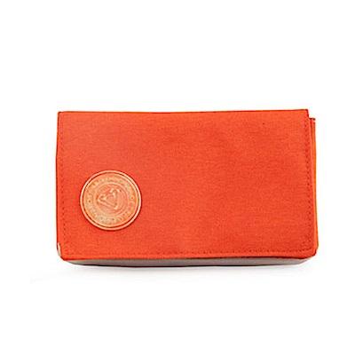 GOLLA手機皮夾-橫琥珀橘