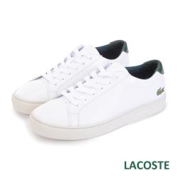 LACOSTE 女用真皮休閒鞋-白色