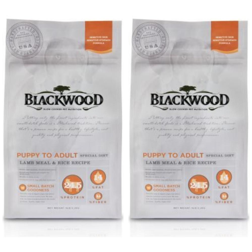 BlackWood 柏萊富 功能性全齡護膚亮毛配方(羊肉+米)5磅 2.27公斤 X 2包