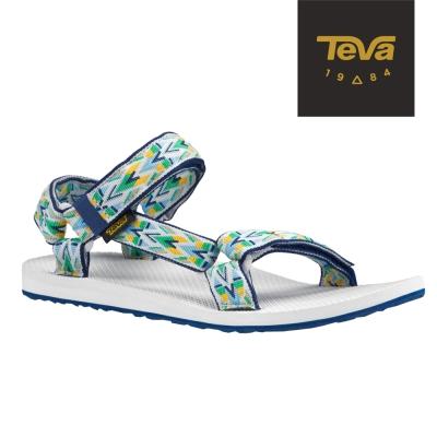 TEVA 美國-男 Original Universal 緹花涼鞋 (炫彩藍)