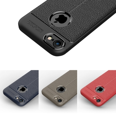 PKG  Apple IPhone6S PLUS 抗震防摔手機殼 抗手紋皮紋系列