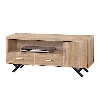 品家居 柏莫萊3.8尺橡木紋長櫃/電視櫃-115x40x52cm免組