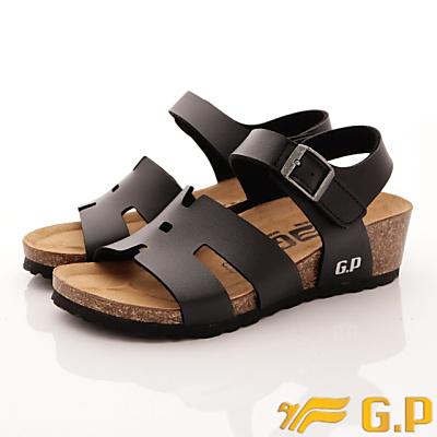 GP時尚涼拖-楔形涼鞋款-WSE85-10黑色(女段)