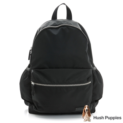 Hush Puppies休閒筆電後背包(大)-黑色