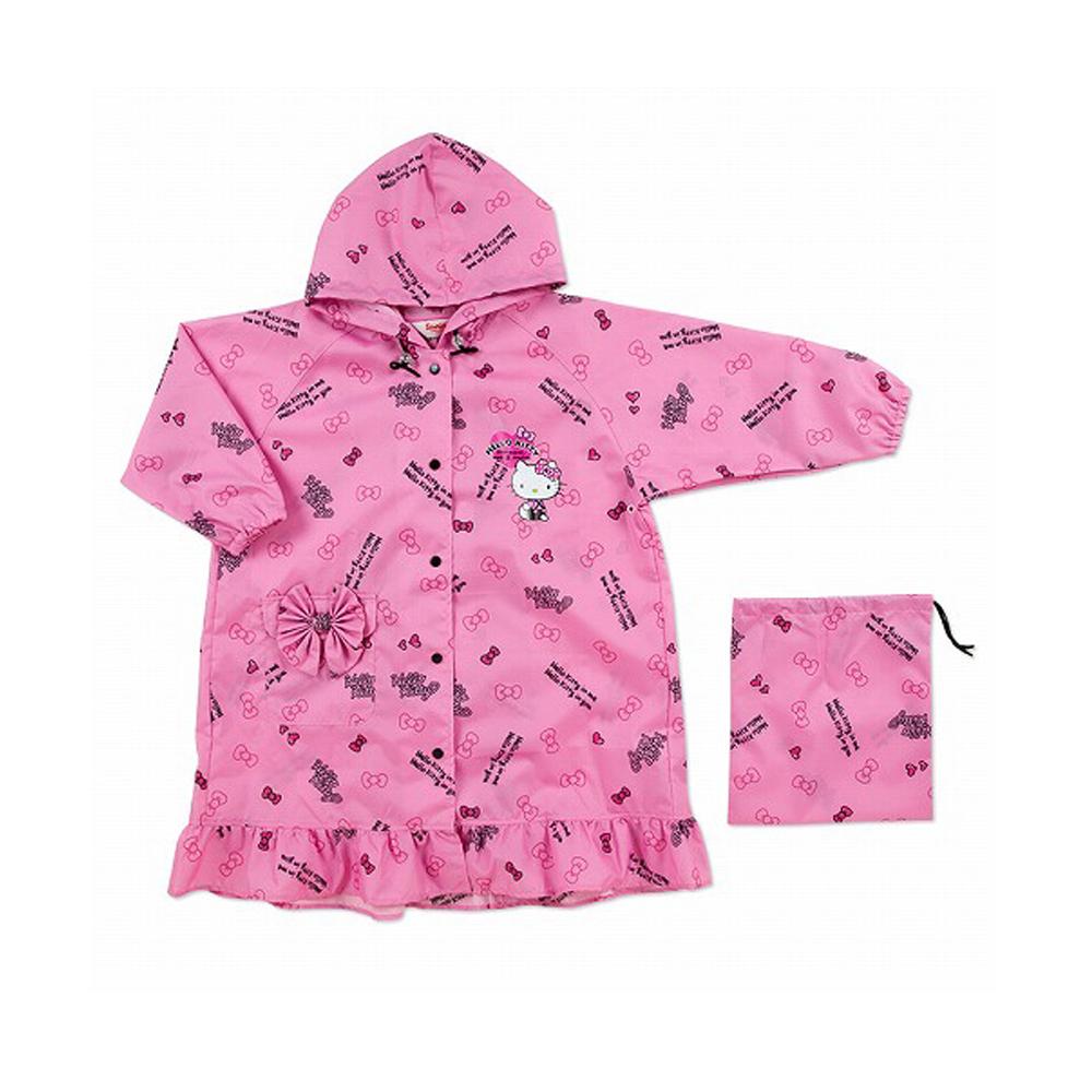 《Sanrio》HELLO KITTY可愛花邊兒童雨衣(緞帶)