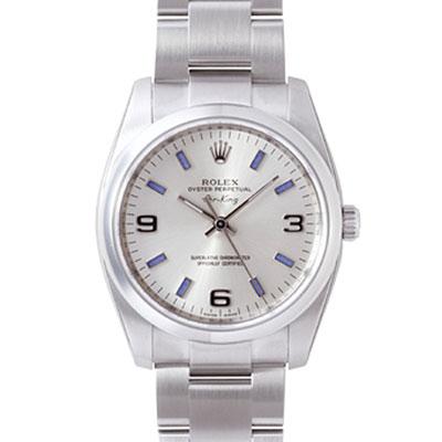 ROLEX 勞力士 AIR-KING 114200 蠔式恆動腕錶-藍刻度/34mm