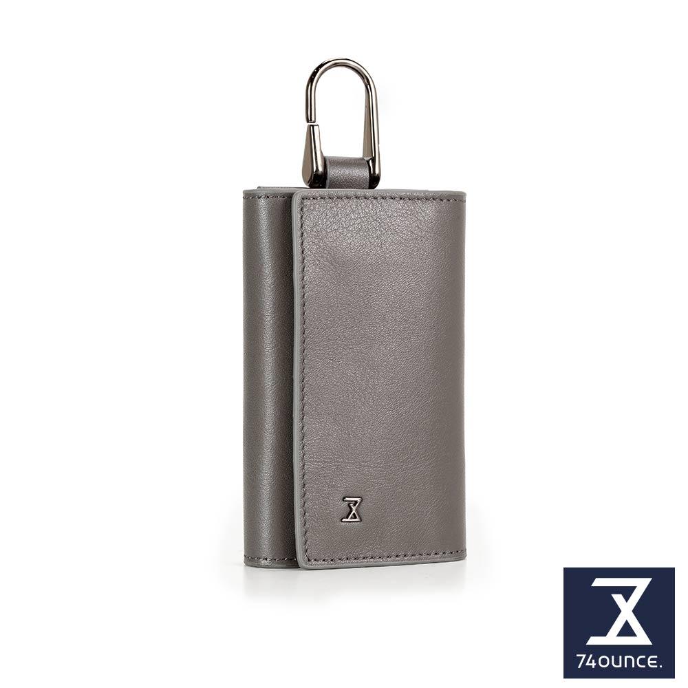 74盎司 Plain 真皮鑰匙包[N-567]灰