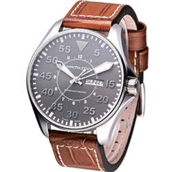 HAMILTON Khaki Pilot 航空飛行機械腕錶-灰