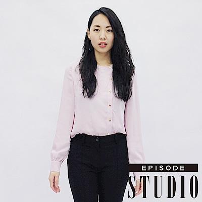 EPISODE Studio - 側邊金屬排釦設計襯衫(粉)