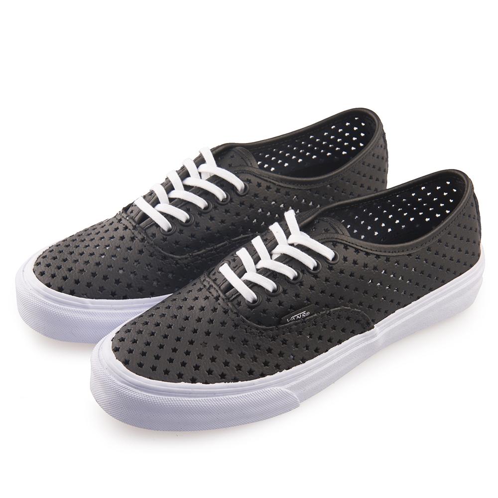 (女)VANS Authentic Slim 星型洞洞5孔綁帶休閒鞋*黑色