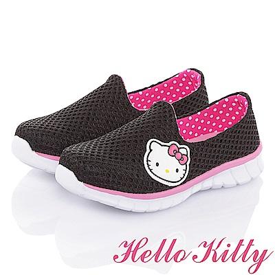 HelloKitty 輕量透氣抗菌防臭減壓運動休閒童鞋-黑