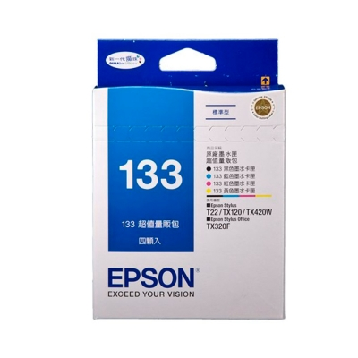 EPSON NO.133 量販包-四顆包裝(T133650)