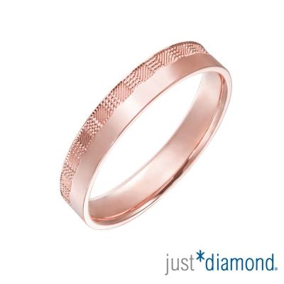 Just Diamond 18K玫瑰金戒指(3mm)-市松
