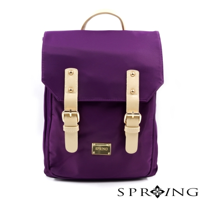 SPRING-城市輕旅尼龍後背包-深紫