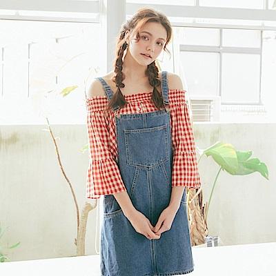 CACO-荷葉袖平肩上衣(三色)-女【PSH019】