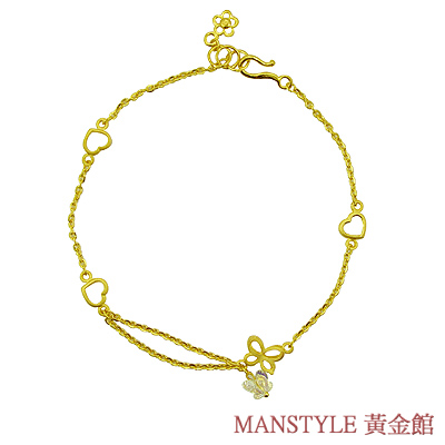 MANSTYLE「晶瑩幸福」黃金手鍊