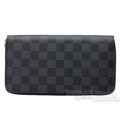 LV-N63077-Damier黑灰棋盤格拉鍊式長夾