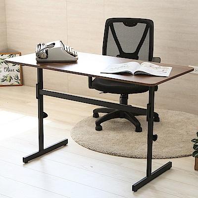 澄境 工業風120公分大桌面升降工作桌120x60x52-76cm-DIY