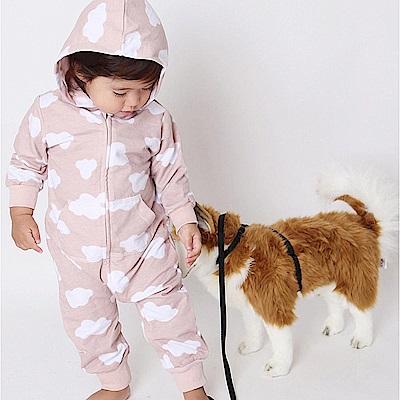 Baby unicorn 裸粉色雲朵長袖連身衣