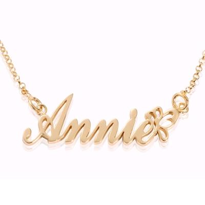 【YUME】蝴蝶英文名字項鍊