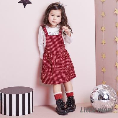 Little moni 甜心女孩點點吊帶裙 (共2色)
