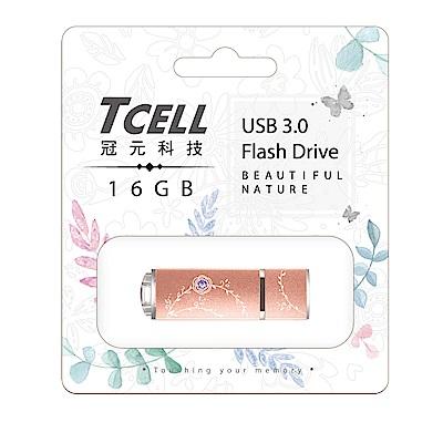 TCELL 冠元-USB3.0 16GB 絢麗粉彩隨身碟-玫瑰金