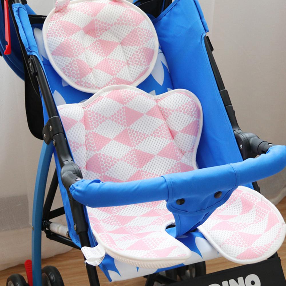 日本YODO XIUI嬰兒車涼墊3D透氣網眼雙層透氣墊