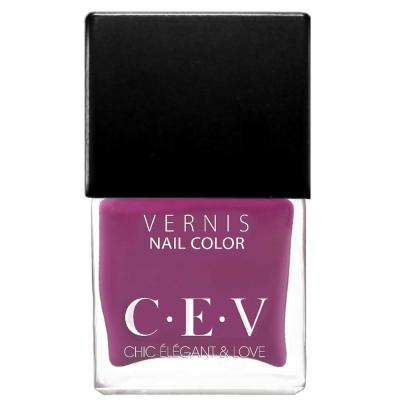 CEV輕奢指甲油 SC515 紫羅迷霧 15mL黑蓋