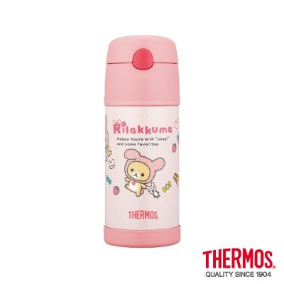 膳魔師-拉拉熊-草莓兔子-不鏽鋼真空保冷瓶0-37L-B2015RM-RB
