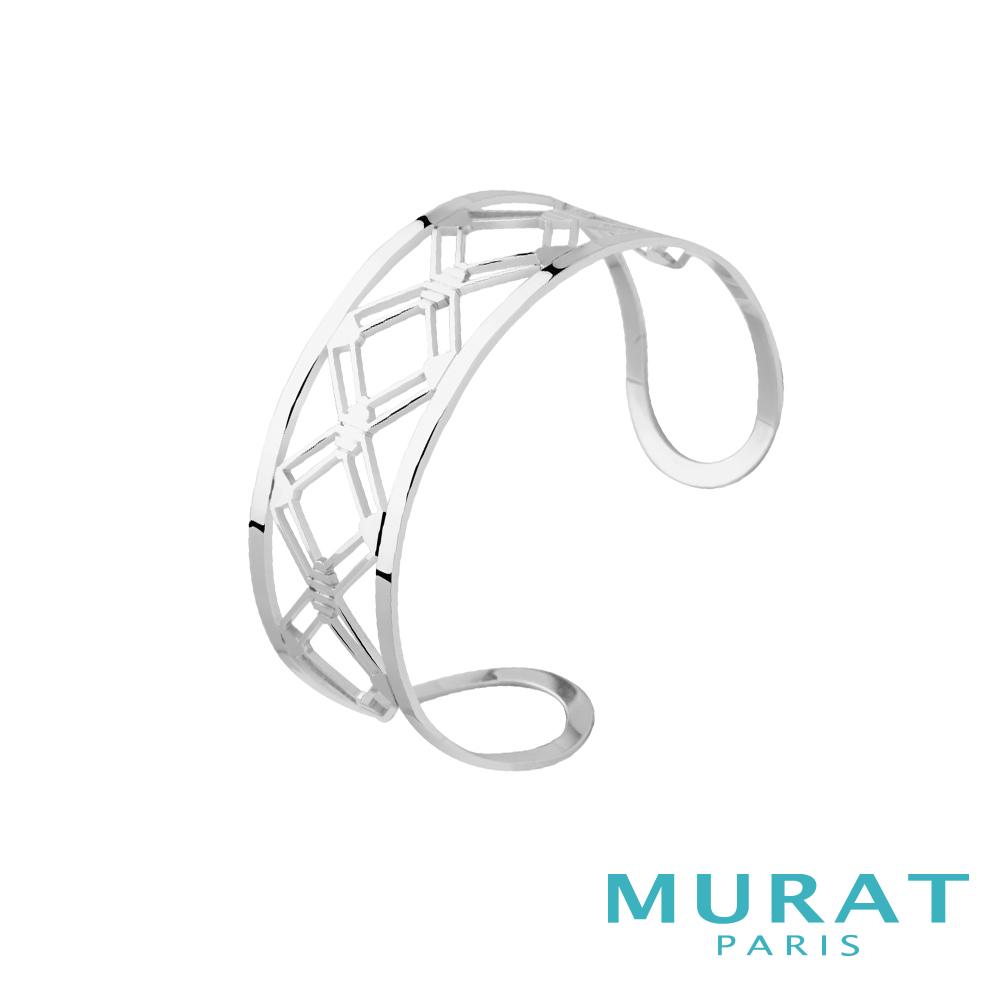 MURAT Paris米哈巴黎 摩登鏤空菱形寬手環