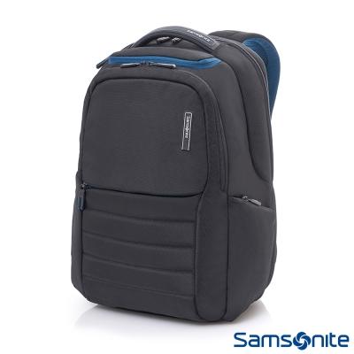 Samsonite新秀麗 Garde涼感背負設計筆電後背包-14吋(黑)