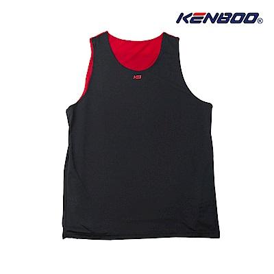 KENBOO雙面穿吸排籃球背心-黑色