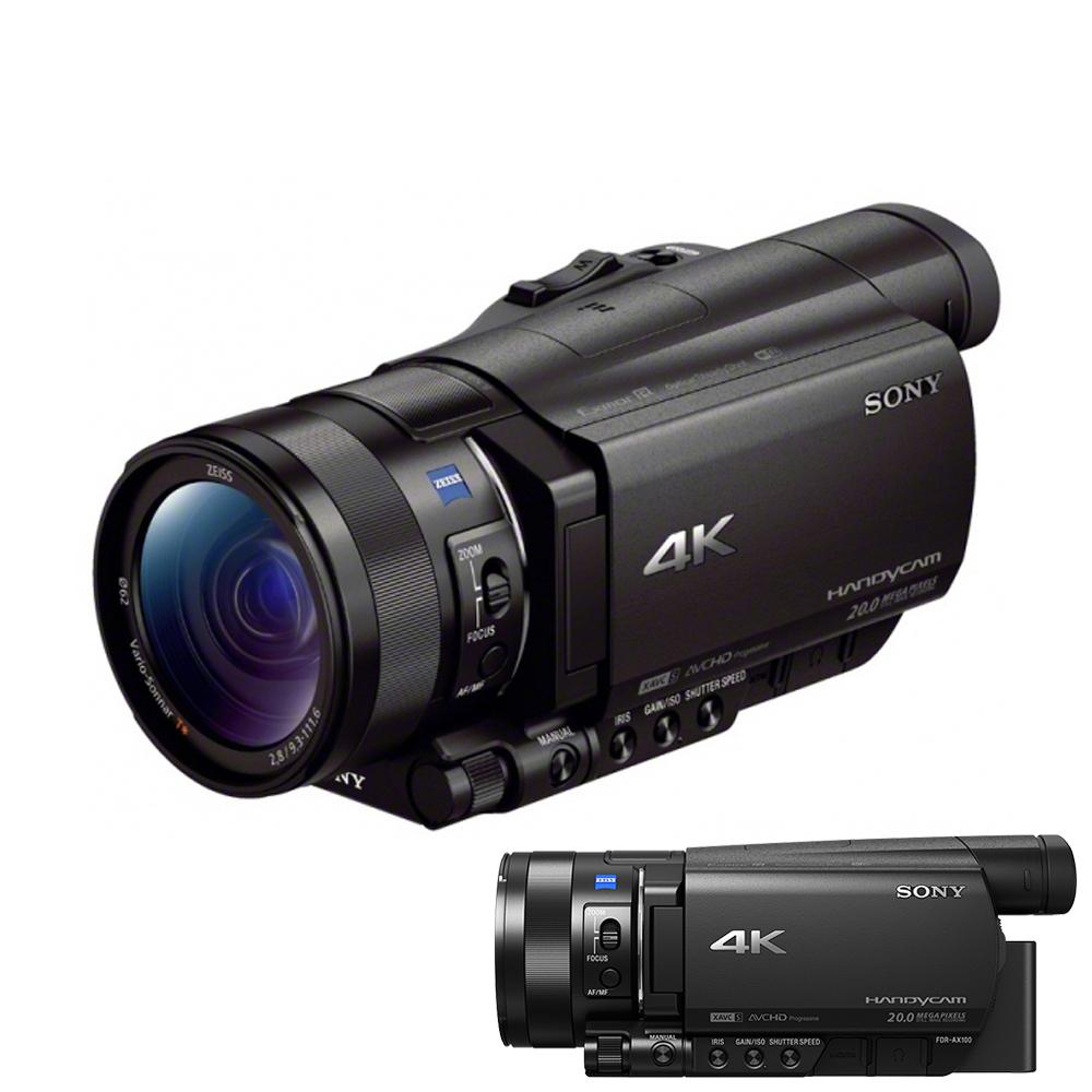 【快】SONY FDR-AX100 4K高畫質攝影機-PAL系統*(中文平輸)