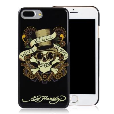 Ed-Hardy-iPhone-7-Plus-5-5吋-亮面保護殼-齒輪骷髏