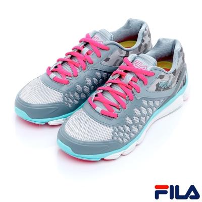 FILA女慢跑鞋-灰/藍5-X020R-255