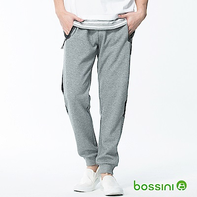 bossini男裝-休閒針織長褲01銀灰