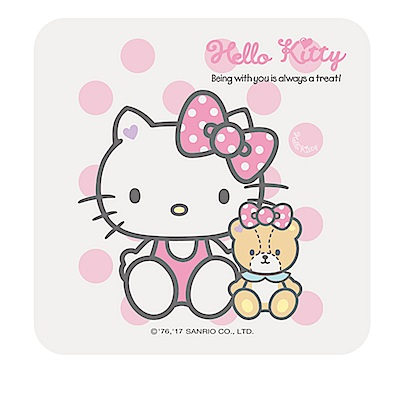 【三麗鷗獨家授權】Hello Kitty繽紛彩繪杯墊/皂盤-粉紅泡泡
